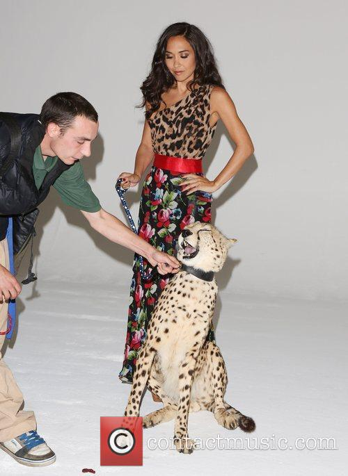 Myleene Klass and Cheetah 2