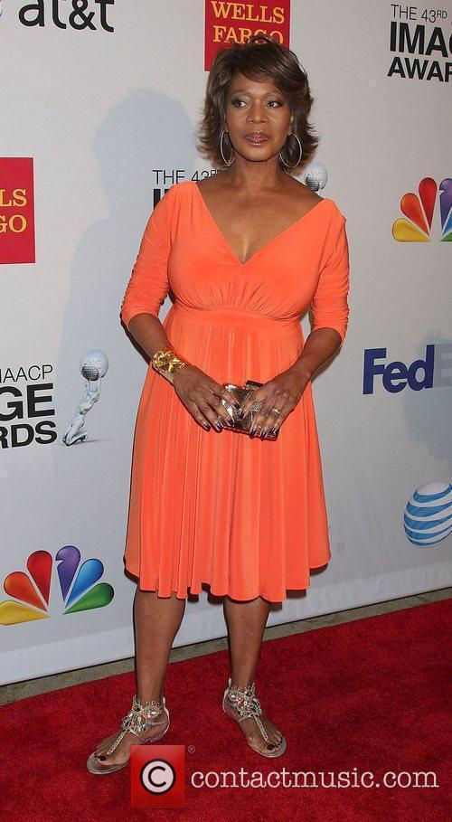 Alfre Woodard arrives at the NAACP Image Awards...