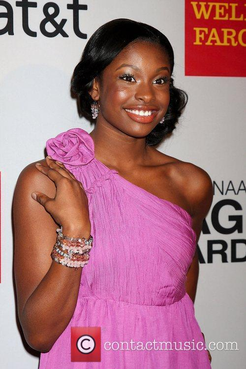 Coco Jones arrives at the NAACP Image Awards...