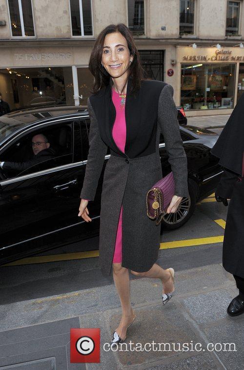Nancy Shevell leaving her hotel.