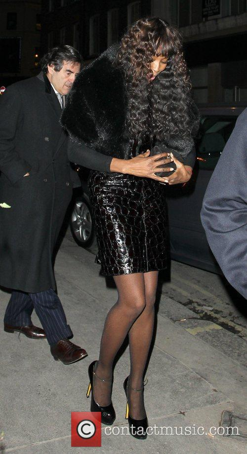 Naomi Campbell leaving a Soho Townhouse London, England