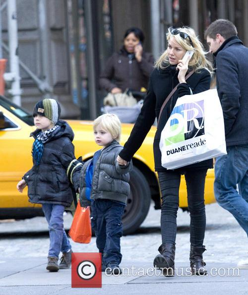 Naomi Watts, Samuel, Sasha and New York City 6