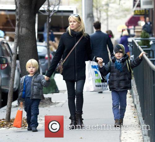 Naomi Watts, Samuel, Sasha and New York City 2