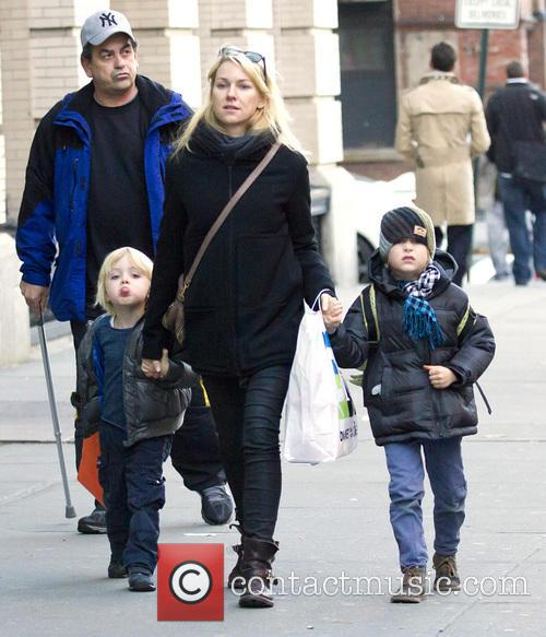Naomi Watts, Samuel, Sasha and New York City 5