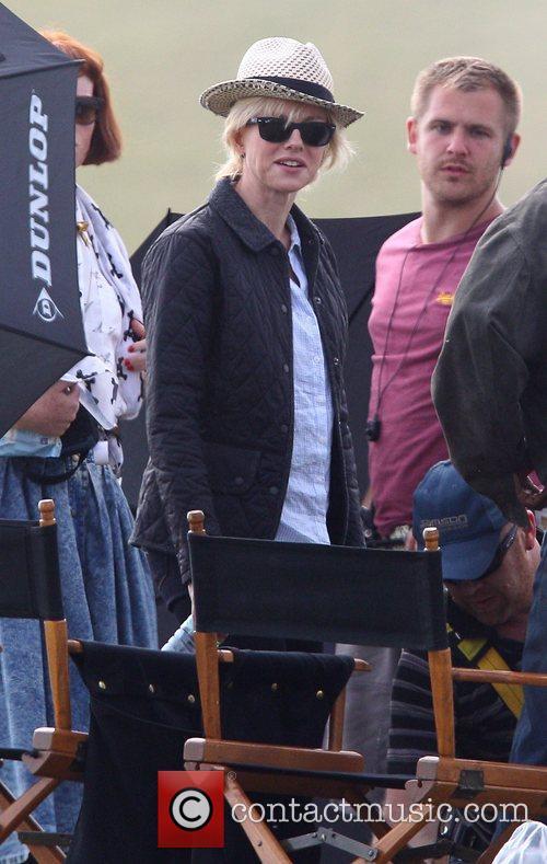 Naomi Watts shooting a scene on the set...