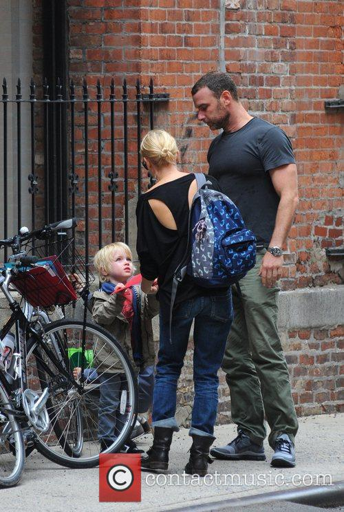 Naomi Watts and Liev Schreiber collect their kids...