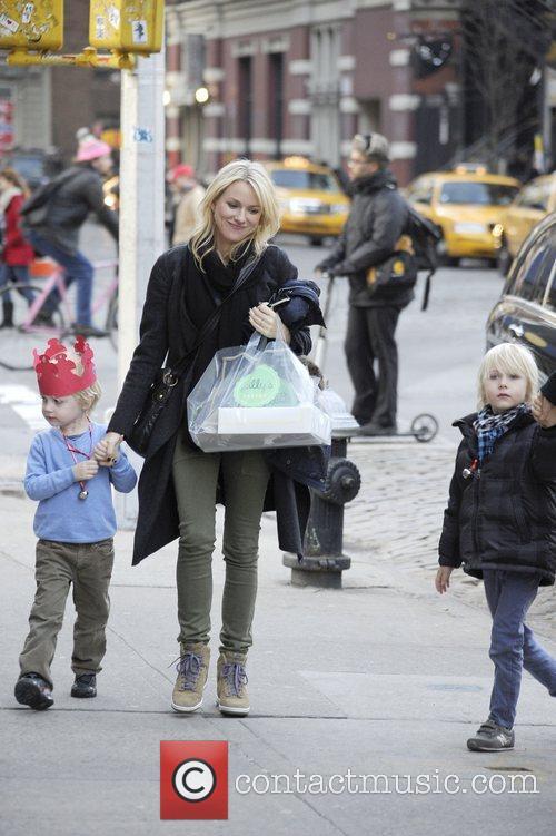 Naomi Watts, Liev Schreiber, Alexander and Samuel 11