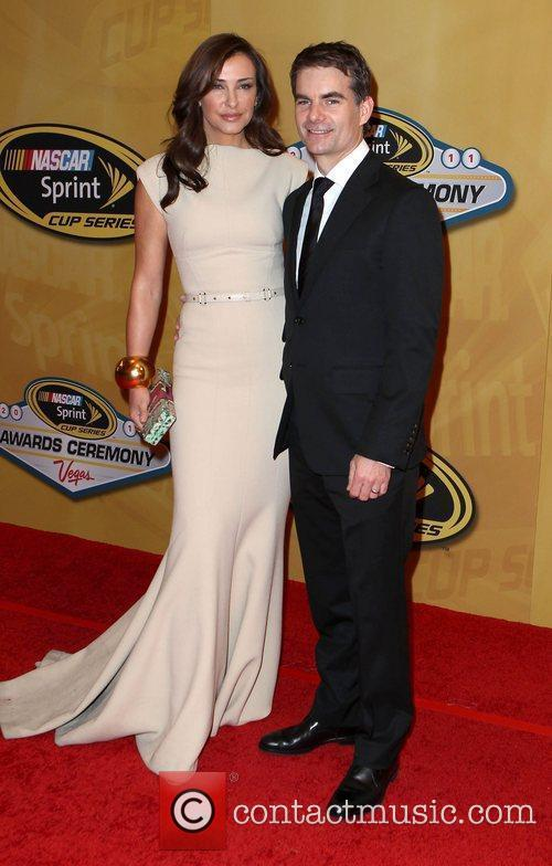 Ingrid Vandebosch, Jeff Gordon 2011 Nascar Sprint Cup...
