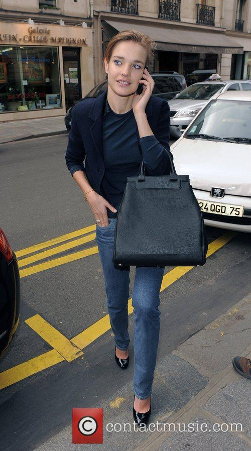 Natalia Vodianova leaving her hotel