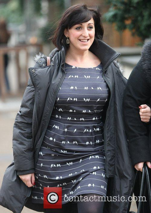 Natalie Cassidy leaving a pub near the ITV...