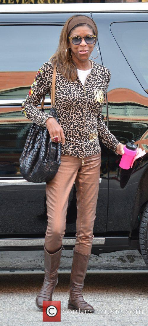Singer Natalie Maria Cole leaving the Doctor's Office...