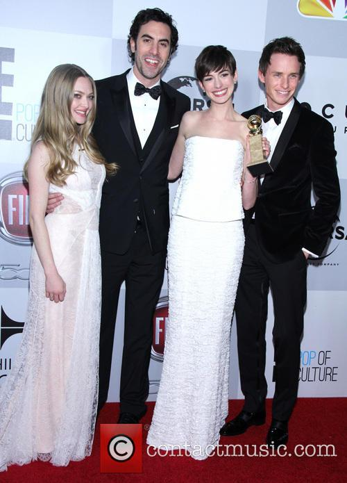 Amanda Seyfried, Sacha Baron Cohen, Anne Hathaway and Eddie Redmayne 5