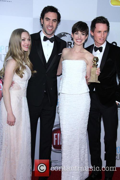 Amanda Seyfried, Sacha Baron Cohen, Anne Hathaway and Eddie Redmayne 1
