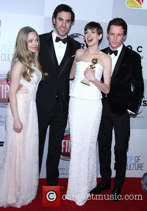 Amanda Seyfried, Sacha Baron Cohen, Anne Hathaway and Eddie Redmayne 7