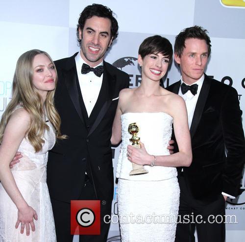 Amanda Seyfried, Sacha Baron Cohen, Anne Hathaway and Eddie Redmayne 6