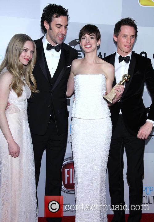 Amanda Seyfried, Sacha Baron Cohen, Anne Hathaway and Eddie Redmayne 2