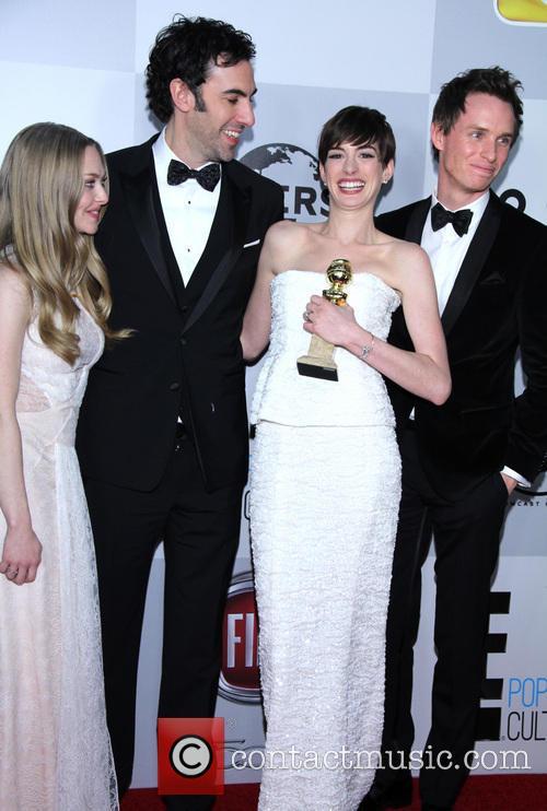 Amanda Seyfried, Sacha Baron Cohen, Anne Hathaway and Eddie Redmayne 4