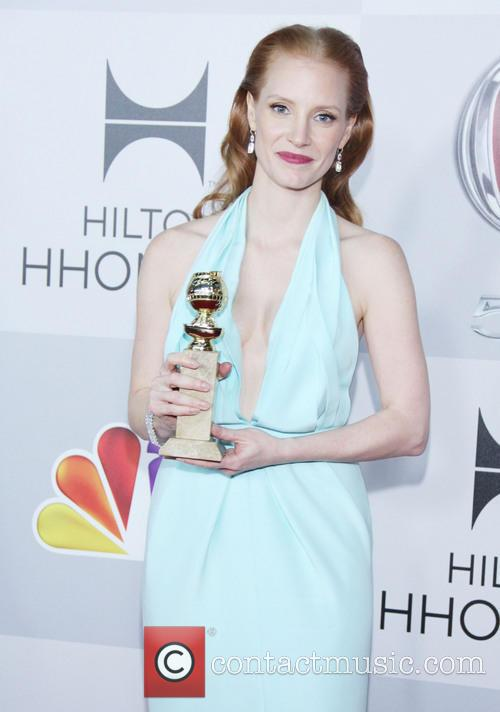 Jessica Chastain and Beverly Hilton Hotel 6