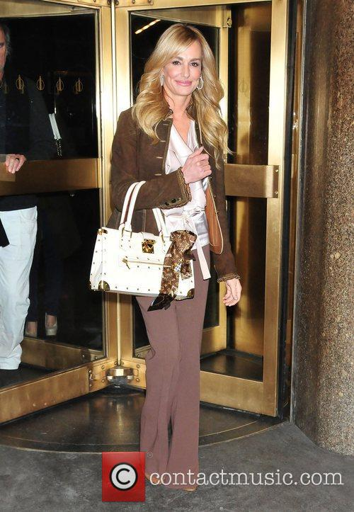 Taylor Armstrong  leaving the NBC Studios New...
