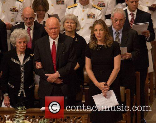 Annie Glenn and John Glenn Memorial service in...