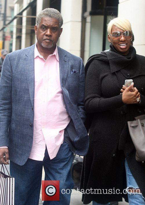 Nene Leakes and her husband Greg Leakes out...
