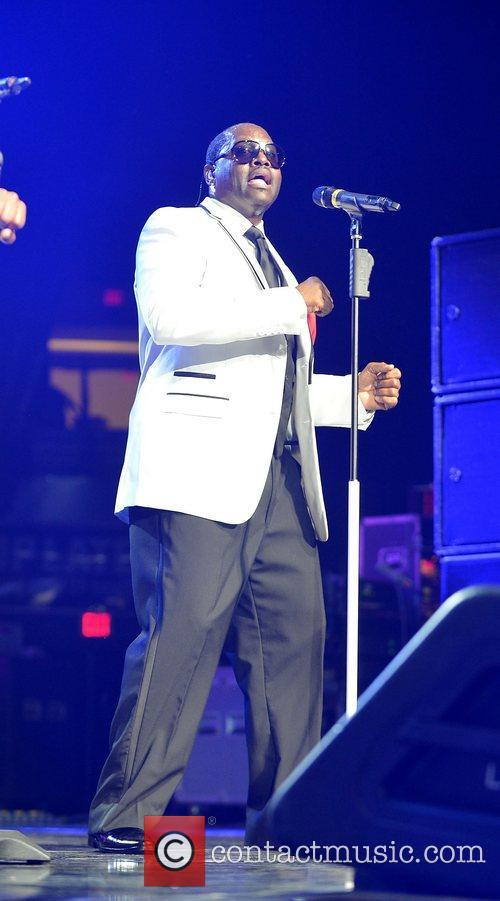Johnny Gill New Edition perform at Bank United...