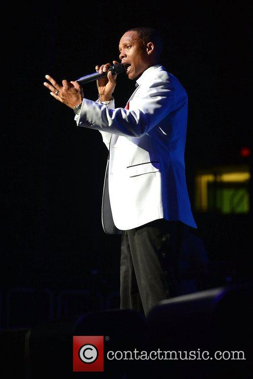 Ronnie DeVoe New Edition perform at Bank United...