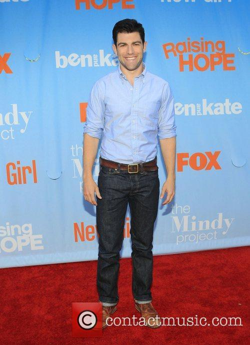 Max Greenfield  at the New FOX Tuesday...