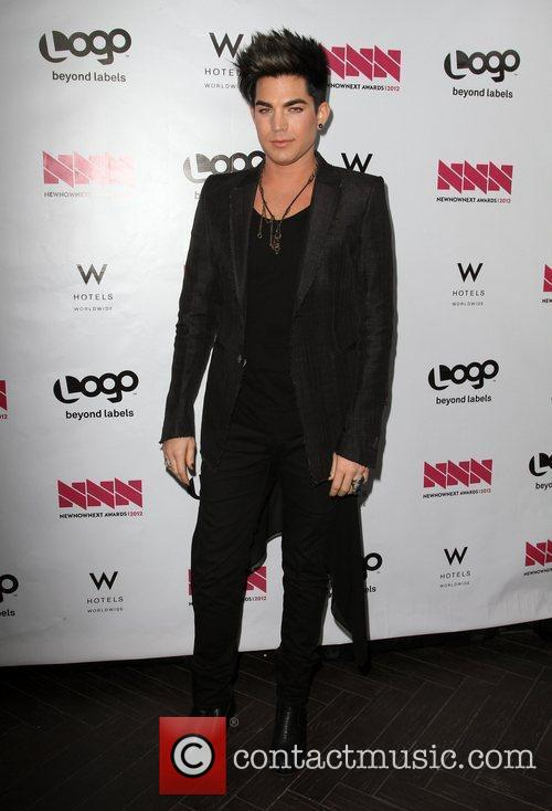 Adam Lambert W Hotel's Private Lounge at LOGO's...
