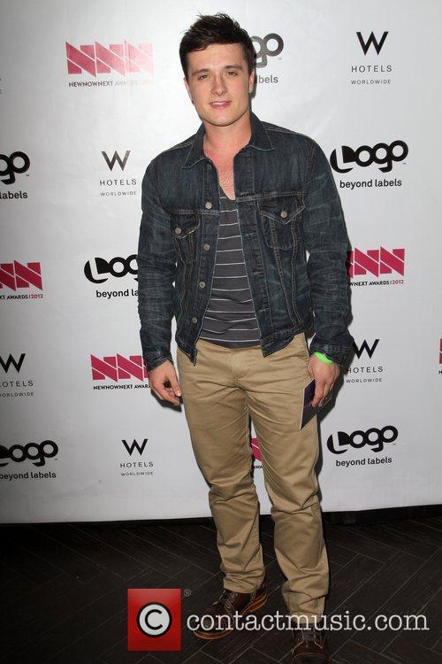 Josh Hutcherson W Hotel's Private Lounge at LOGO's...