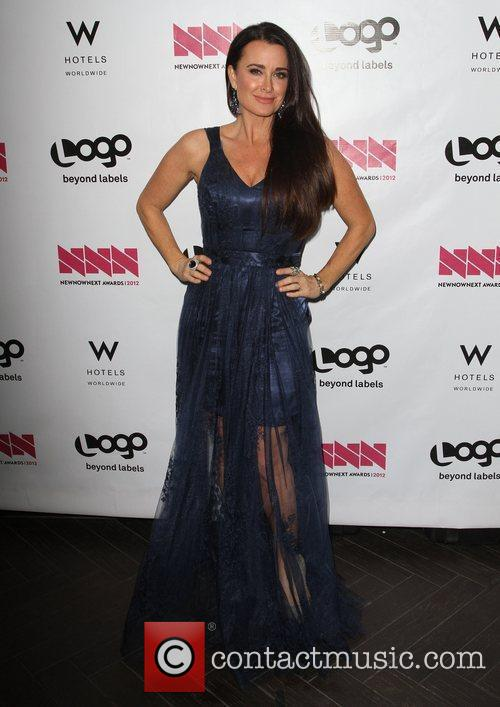 Kyle Richards W Hotel's Private Lounge at LOGO's...