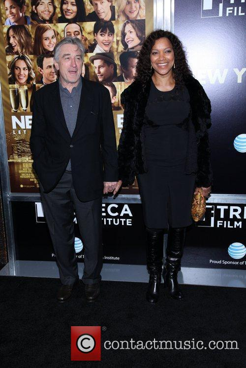 Robert De Niro, Grace Hightower and Ziegfeld Theatre 3