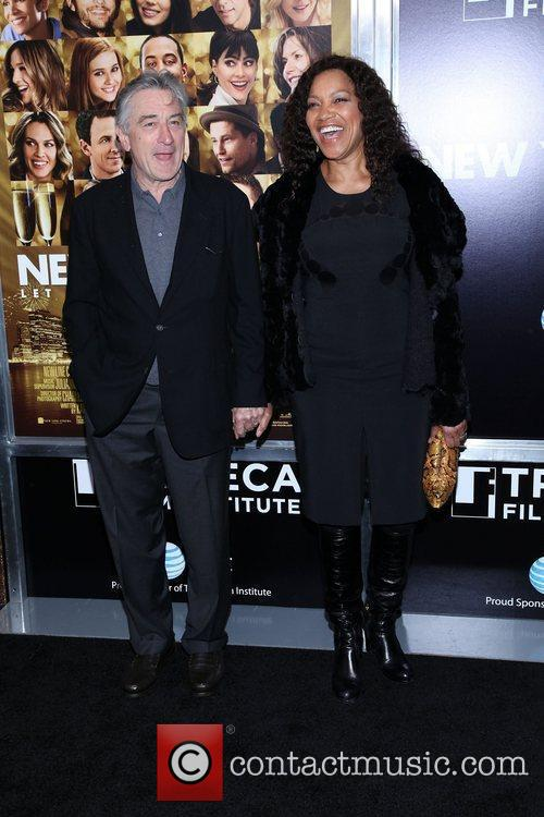 Robert De Niro, Grace Hightower and Ziegfeld Theatre 5