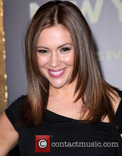 Alyssa Milano and Grauman's Chinese Theatre 3