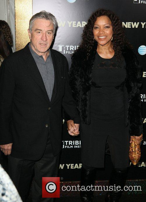 Robert De Niro, Grace Hightower and Ziegfeld Theatre 4