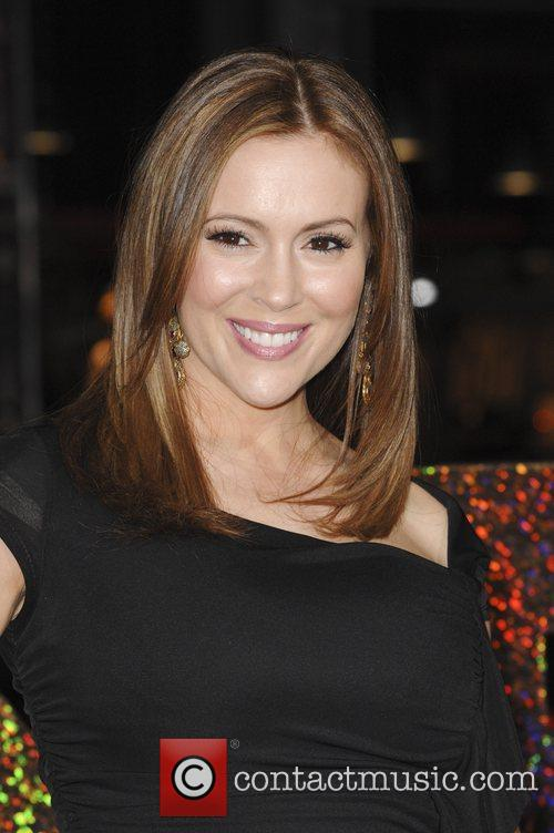 Alyssa Milano and Grauman's Chinese Theatre