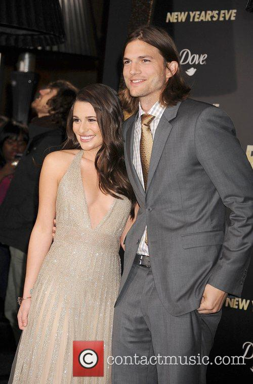 Lea Michele, Ashton Kutcher, Grauman's Chinese Theatre