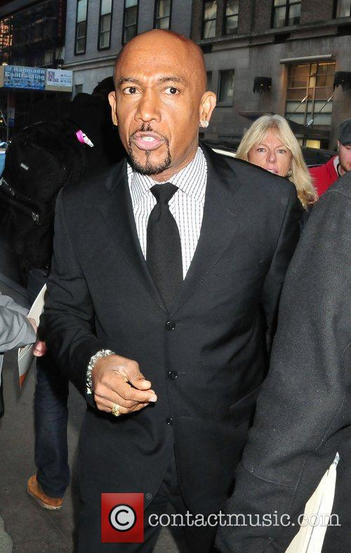 Montel Williams New York Giants Super Bowl Rally...