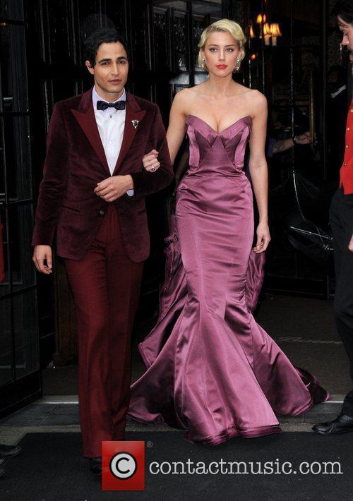 Amber Heard leaves her hotel New York City,...