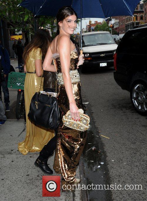 Bianca Brandolini D'Adda leaves her hotel New York...