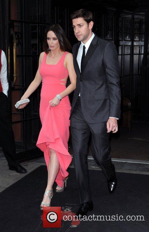 Emily Blunt and John Krasinski  leave their...