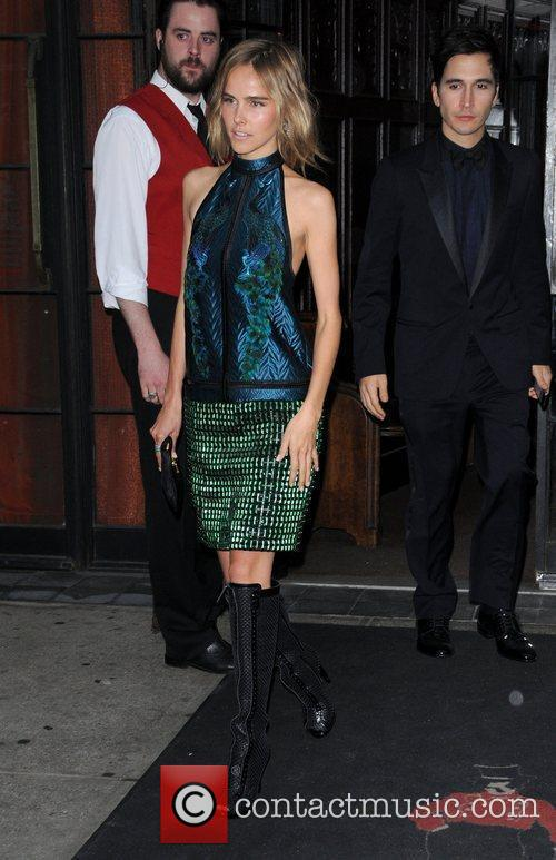 Isabel Lucas leaves her hotel New York City,...