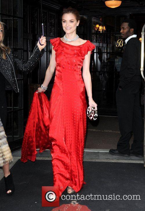 Jamie King leaves her hotel New York City,...