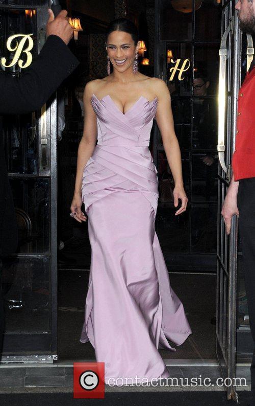 Paula Patton leaves her hotel New York City,...