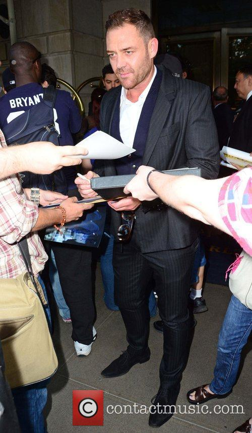 Martin Csokas greets fans and signs autographs outside...