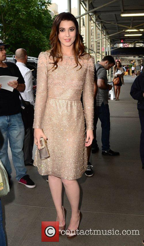 Mary Elizabeth Winstead greets fans outside her New...
