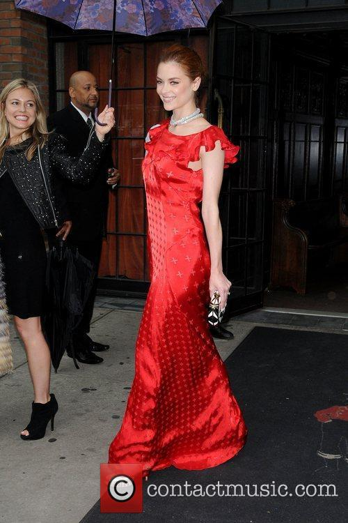 Jaime King leaves her hotel New York City,...