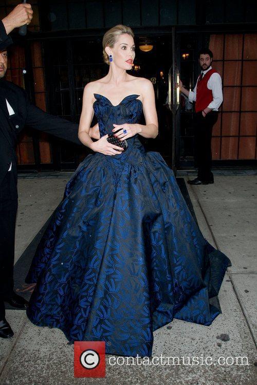 Leslie Bibb leaves her hotel New York City,...