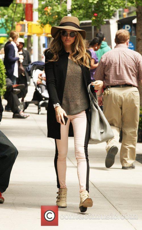Kate Upton walking back to her hotel...