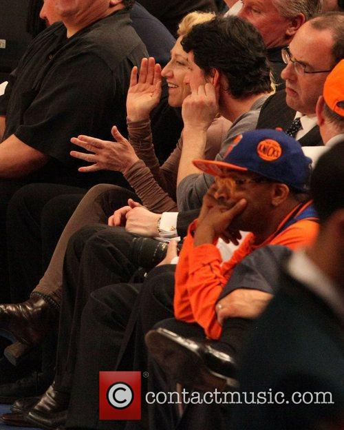 Steve Schirripa, Edie Falco, Spike Lee and Madison Square Garden 2